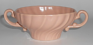 Franciscan Pottery Coronado Satin Coral Cream Soup Bowl