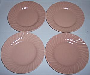 FRANCISCAN POTTERY CORONADO CORAL 6.5 SET/4 PLATES! (Image1)