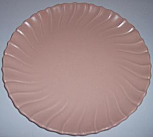 FRANCISCAN POTTERY CORONADO SATIN CORAL 12 CHOP PLATE! (Image1)