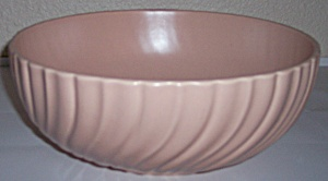 Franciscan Pottery Coronado Satin Coral Salad Bowl