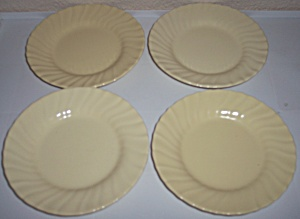 Franciscan Pottery Coronado 4 Satin Yellow 6 Plates