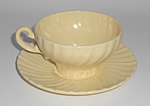 Franciscan Pottery Coronado Satin Yellow Cup/saucer Set