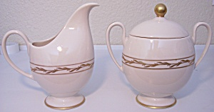 Franciscan Pottery Fine China Beverly Creamer/sugar Set