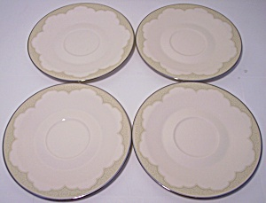 Franciscan Pottery Fine China Castile Set/4 Saucers