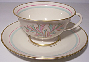 Franciscan Pottery Fine China Rossmore Cup/saucer Set
