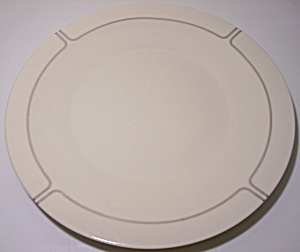 Franciscan Pottery Fine China Silver Lining Dinner Plt