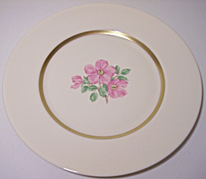 Franciscan Pottery Fine China Cherokee Rose 8 Plate