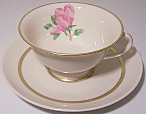 Franciscan Pottery Fine China Cherokee Rose Cup/saucer