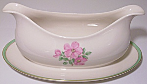 Franciscan Pottery Fine China Cherokee Rose Gravy Bowl