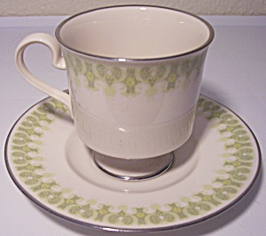 Franciscan Pottery Fine China Gabrielle Cup/saucer Set