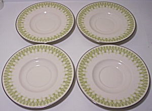 Franciscan Pottery Fine China Gabrielle Set/4 Saucers