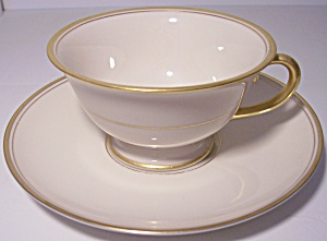 Franciscan Pottery Fine China Gold Band Cup/saucer Set