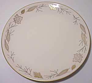 Franciscan Pottery Fine China Gold Leaves Bread Plate