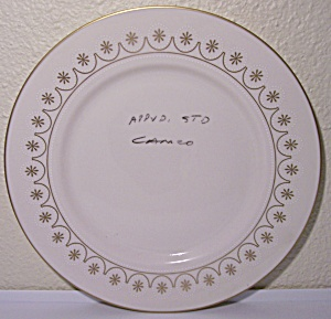 Franciscan Pottery Masterpiece China Cameo Test Plate