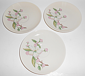 Franciscan Pottery Fine China Appleton Set/3 Saucers