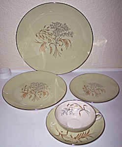 FRANCISCAN POTTERY FINE CHINA WILLOW BOUQUET 5 PC PLACE (Image1)