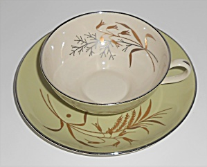 FRANCISCAN POTTERY FINE CHINA WILLOW BOUQUET CUP/SAUCER (Image1)