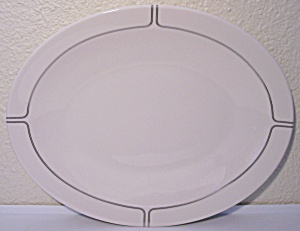 Franciscan Pottery Fine China Silver Lining Platter