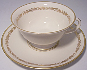 Franciscan Pottery Fine China Arcadia Gold Cup/saucer