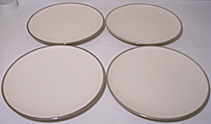 Franciscan Pottery Fine China Platinum Band 4 Bread Pl