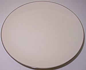 Franciscan Pottery Fine China Platinum Band Dinner Plt