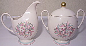 FRANCISCAN POTTERY FINE CHINA ROSSMORE CREAMER/SUGAR! (Image1)