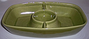 Franciscan Pottery Wheat Winter Green Divided Server