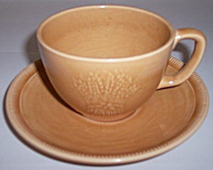 Franciscan Pottery Wheat Summer Tan Cup/saucer Set