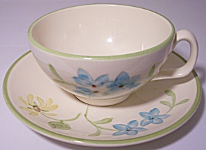 Franciscan Pottery Daisy Cup/saucer Set Mint