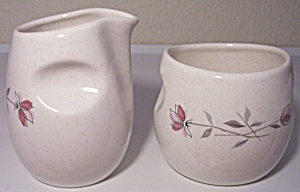 FRANCISCAN POTTERY DUET CREAMER/SUGAR BOWL SET! (Image1)