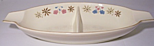 Franciscan Pottery Larkspur Divided Vegetable Bowl