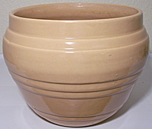 "Pacific Pottery Banded 7"" Apricot Jardiniere"