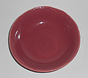 Coors Pottery Golden Rainbow Red Fruit Bowl