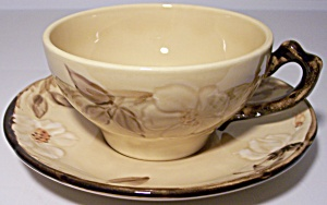 Franciscan Pottery Cafe Royal Cup/saucer Set Mint