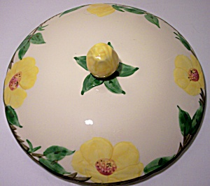 FRANCISCAN POTTERY MEADOW ROSE LG CASSEROLE LID! (Image1)