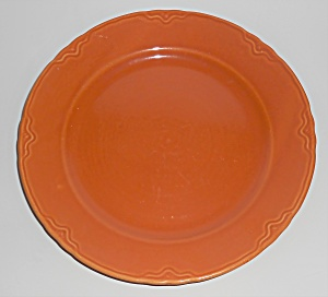Coors Pottery Golden Rainbow Orange Dinner Plate
