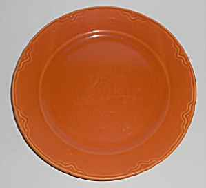 Coors Pottery Golden Rainbow Orange Dinner Plate Rare
