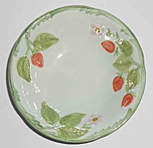 Franciscan Pottery Strawberry Time Cereal Bowl Mint