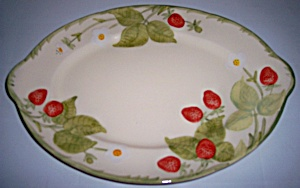 Franciscan Pottery Strawberry Fair Platter