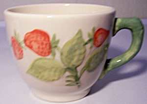 Franciscan Pottery Strawberry Fair Coffee Cup