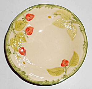 Franciscan Pottery Strawberry Fair Cereal Bowl Mint