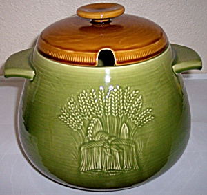 Franciscan Pottery Wheat Winter Green Tureen W/lid