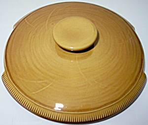 FRANCISCAN POTTERY WHEAT HARVEST BROWN CASSEROLE LID! (Image1)