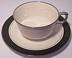 Franciscan Pottery Masterpiece Midnight Mist Cup/saucer
