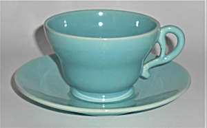 FRANCISCAN POTTERY EL PATIO GLACIAL BLUE CUP/SAUCER SET (Image1)
