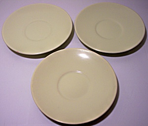FRANCISCAN POTTERY EL PATIO YELLOW SET 3 SAUCERS! (Image1)