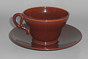 FRANCISCAN POTTERY EL PATIO REDWOOD CUP/SAUCER SET! (Image1)