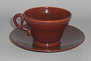 Franciscan Pottery El Patio Redwood Cup & Saucer Set (Image1)