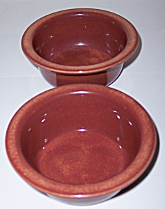 Franciscan Pottery El Patio Redwood Pr Ramekins