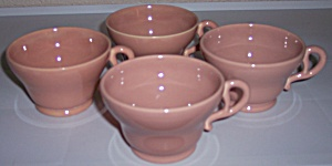 FRANCISCAN POTTERY EL PATIO GLOSS CORAL SET/4 CUPS! (Image1)